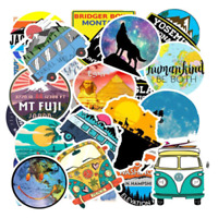 50 Abenteuer Reise Stickerbomb Cartoon Bulli Aufkleber Sticker Mix Decals