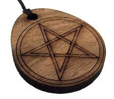 Eibe Pentagramm Wieder Aufbereitetes Hölzerne Lasergeschnitten Anhänger