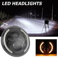 7 inch Round 200W LED Headlight Halo Angle Eye for Jeep Wrangler JK TJ LJ 97-17