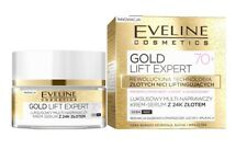 EVELINE COSMETICS GOLD LIFT EXPERT 70+ FACE MULTI- REPAIR CREAM SERUM WITH 2
