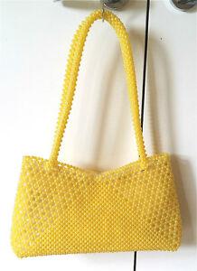 Self-made DIY bag  Crochet Hand bag  bead paty Messenger Sling Shoulder Bag