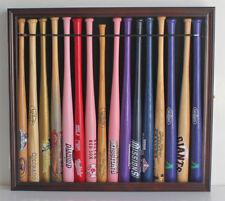 "Small Mini Baseball Bat 18"" Shadow Box Display Case Holds 16 bats. B130-MAH"