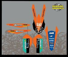 Kit de gráficos de rebote: se adapta a KTM SX SXF EXC 50 Modelos 65 85 125 150 250 300 350 450