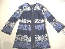 Women Multi Color INC International Concept Long Sleeve Lace  Coat sz XL
