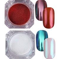 2Boxes Nail Glitter Powder Mirror Effect Nail Art Chrome Pigment BORN PRETTY