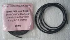 1.5 Metres, of Black Silicone Tube, 3mm O.D., 2mm I.D.