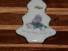 """""""Precious Moment'S"""" 1990 """" Enesco trinket box May God's Blessings Fall Upon You"""