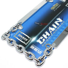 Show Chrome Chain License Plate Tag Frame for Auto-Car-Truck