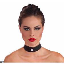 Velvet Choker with Gem Vampiress Goth Burlesque Moulin Rouge Costume Accessory