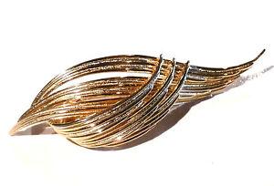 Bijou alliage doré broche créateur Grosse brooch