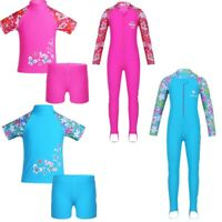 Kids Girls Boys Sun Protective Swimwear Rash Guard Costume Surfing Swimsuit Set