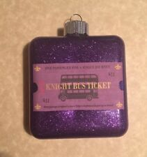 Purple Glitter HARRY POTTER Knight Bus Ticket Inspired  CHRISTMAS ORNAMENT