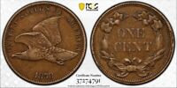 1858 Flying Eagle Cent Small Letters. Beautiful Coin PCGS Almost Uncirculated