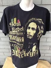 Bob Marley Soul Rebel Legend Zion Buffalo Soldier Large T-Shirt Freedom Fighter