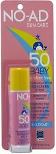 No-Ad Sun Care Baby Sunscreen Stick Spf 50 0.65 oz (Pack of 2)