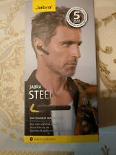 Jabra Steel Ruggedized Bluetooth Headset - Black New + spare charger and buds