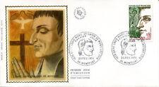 FRANCE FDC - 1784 1 SAINT LOUIS MARIE GRIGNON DE MONTFORT 23 2 1974 - LUXE soie