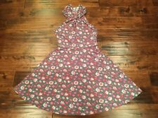 Free People Gray W/ Pink Floral Print Criss Cross Dress, Size Small