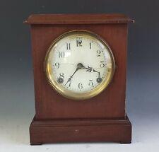 Antique Mahogany Sessions Mantle Shelf Clock