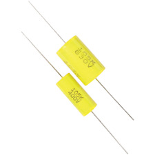 Capacitor, 400V, Metal Film, ± 10%, Capacitance: .1 uF, Package of 12