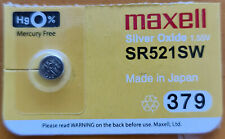 9 x GENUINE NEW Maxell Silver Oxide SR521SW 379 Made JAPAN Battery Exp 06-2023