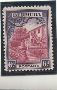 Bermuda 1936 Landscapes.  6D, villa, violet/multicoloured MNH
