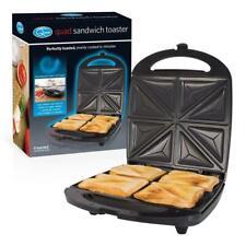 Family 4 Slice Quad Large Sandwich Toaster Toasties Maker Machine Non Stick UK