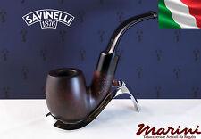 Pipa Pipe Capitol Bruyere by Savinelli radica verniciata scura curva 614 6mm