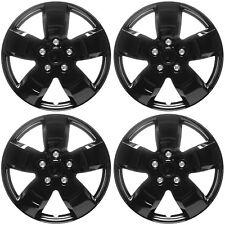"4 Pc Set of 16"" ICE BLACK Hub Caps Rim Cover for OEM Steel Wheel - Covers Cap"