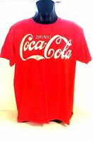 COCA-COLA VINTAGE BRAND T-SHIRT LARGE RED  COKE AUTHENTIC (E1)