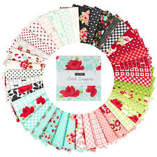 Moda Charm Pack Little Snippets Squares Quilt Fabric vintage modern floral retro