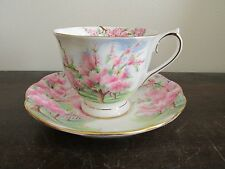 Royal Albert England Blossom Time Demitasse Cup and Saucer