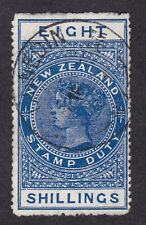 New Zealand Postal Fiscal 8/- blue used DUNEDIN as cheapest