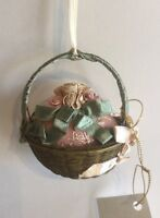 Katherine's Collection Retired Easter Basket Ornament Pink