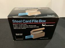 Vintage 1990 Steelmaster 533 Black Steel File Box 300 3 X 5 Index Card Holder