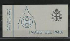Vaticano 1985 - Los Viajes de Juan Pablo II carnet Yvert C756 MINT