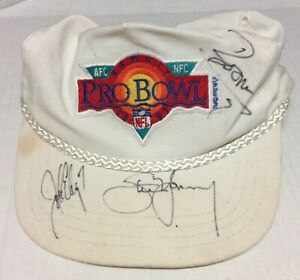 1991 Pro Bowl Hawaii Hat Signed by JOHN ELWAY, STEVE YOUNG & BOOMER ESIASON Auto
