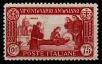 1931 REGNO SANT'ANTONIO CENT.75 DENT12 G.I.** BEN CENTRATO