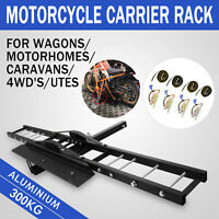 300kg Motorcycle Carrier Hauler Hitch Mount Rack front rear motorbike heavy-duty