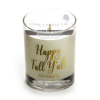 Luna Candle Co. Mulled Cider Scented Premium Soy Wax Candle- Happy Fall Y'all