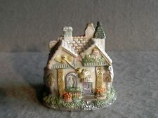 Muted Colors Bird Spring Cottage Statue Ceramic