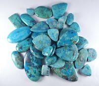 Natural Chrysocolla Mix Size & Shape Cabochon Loose Gemstone Wholesale Lot Price