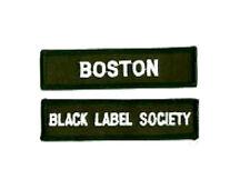 BLACK LABEL SOCIETY BOSTON MEMBER FAN CLUB PATCH SET: City of BOSTON
