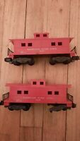 2 American Flyer Lines S Scale Red  Caboose #24603