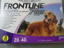 Frontline Plus For Large Dogs 20 - 40 Kg 3 Pack Kill Fleas Fast