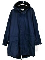 Reaction Kenneth Cole Men's Medium Indigo Pinstriped Hooded Anorak Jacket
