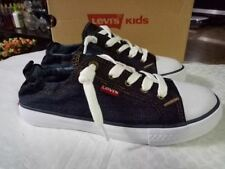 Size 4 Dark Denim Levi's Girls Stan G Sneaker