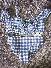 Next Blue Gingham Butterfly Bikini Age 4 Bnwt