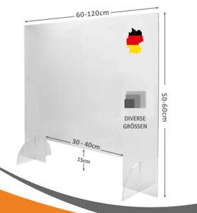 Schutzscheibe Spuckschutz Acrylglas mit Durchreiche Thekenaufsatz Plexiglas DE