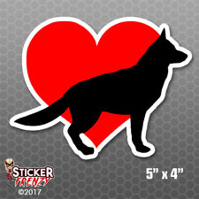 Love Heart Dogs German Shepard Bumper Sticker Car Decal Pets Laptop Puppies Kids